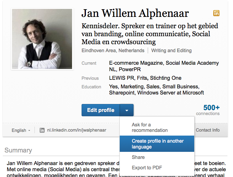 LinkedIn profiel in meerdere talen? Lees hier hoe en waarom