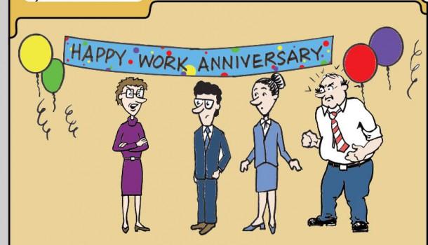 Vrolijke werk verjaardag! Nieuwe, zinloze, functie op LinkedIn.
