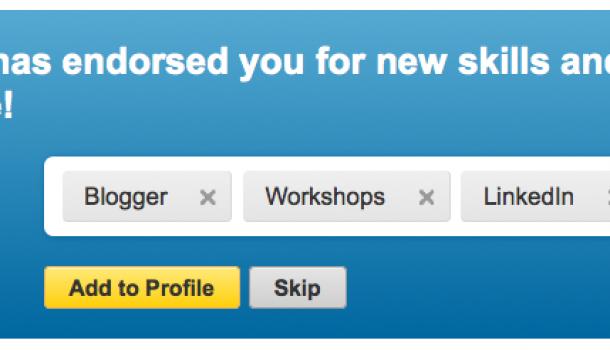 Endorsen van Skills en Expertise nu mogelijk op LinkedIn