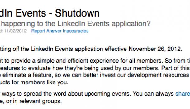 LinkedIn events, waar zijn ze gebleven? Weg! Foetsie!