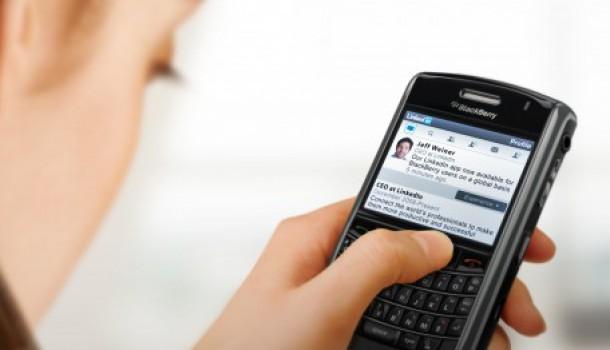 LinkedIn app voor Blackberry behoorlijk uitgebreid