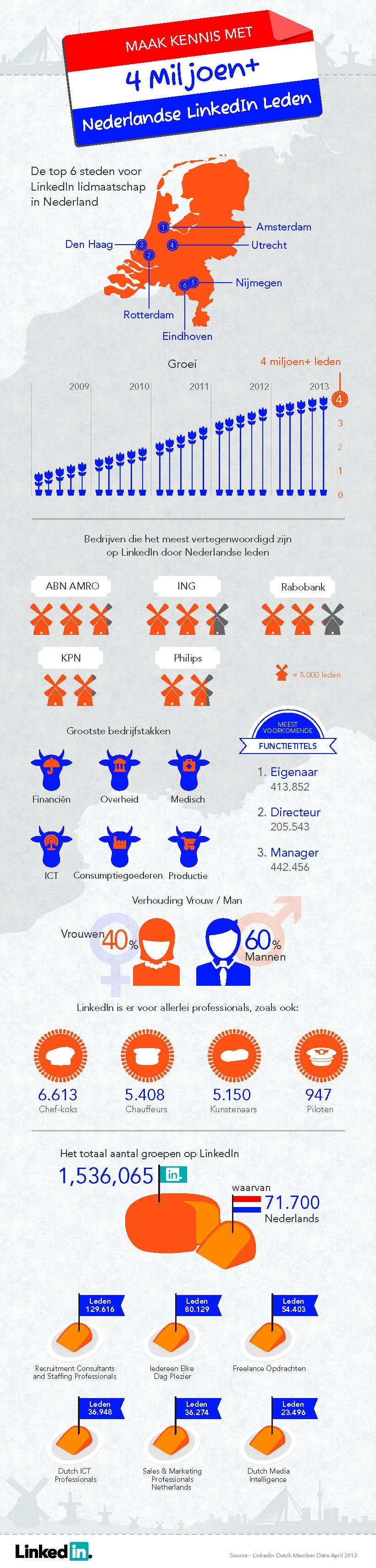 infographic linkedin nederland