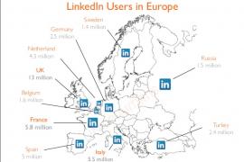 LinkedIn gebruik per land – cijfers juli 2013