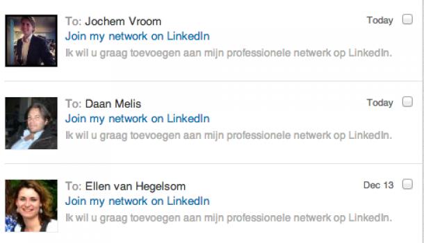 Onpersoonlijk toevoegen aan LinkedIn via de LinkedIn app