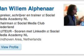 Je LinkedIn profiel promoten op je site? Zo doe je dat