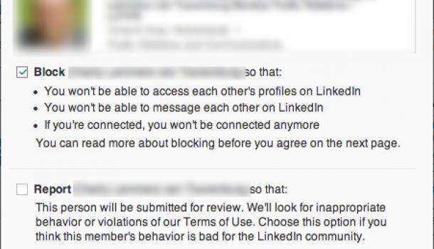 Nieuw: Mensen blokkeren op LinkedIn