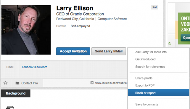 Pas op voor fakers op LinkedIn – Larry Ellison