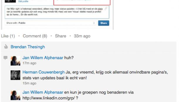 Storing op LinkedIn? Opgelost