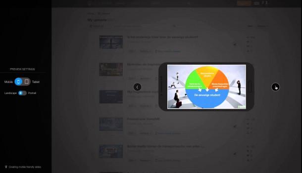 Mobile preview op Slideshare. Nuttig of niet?
