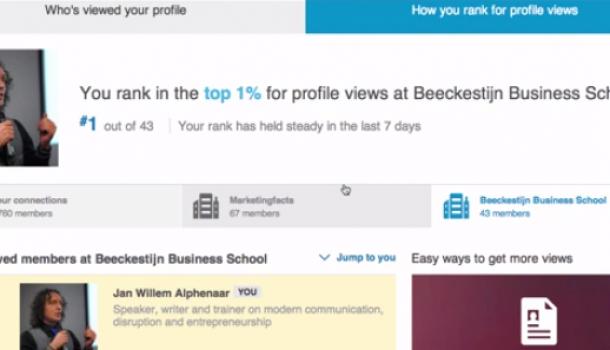 Ranking the stars op LinkedIn