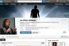 Geen betaalde account op LinkedIn maar wel de nieuwe achtergrond?