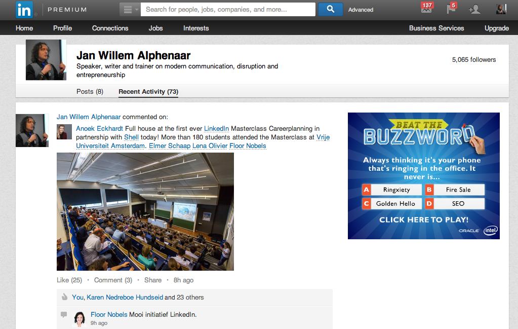 Linkedinpro.nl Statusupdates op linkedin2
