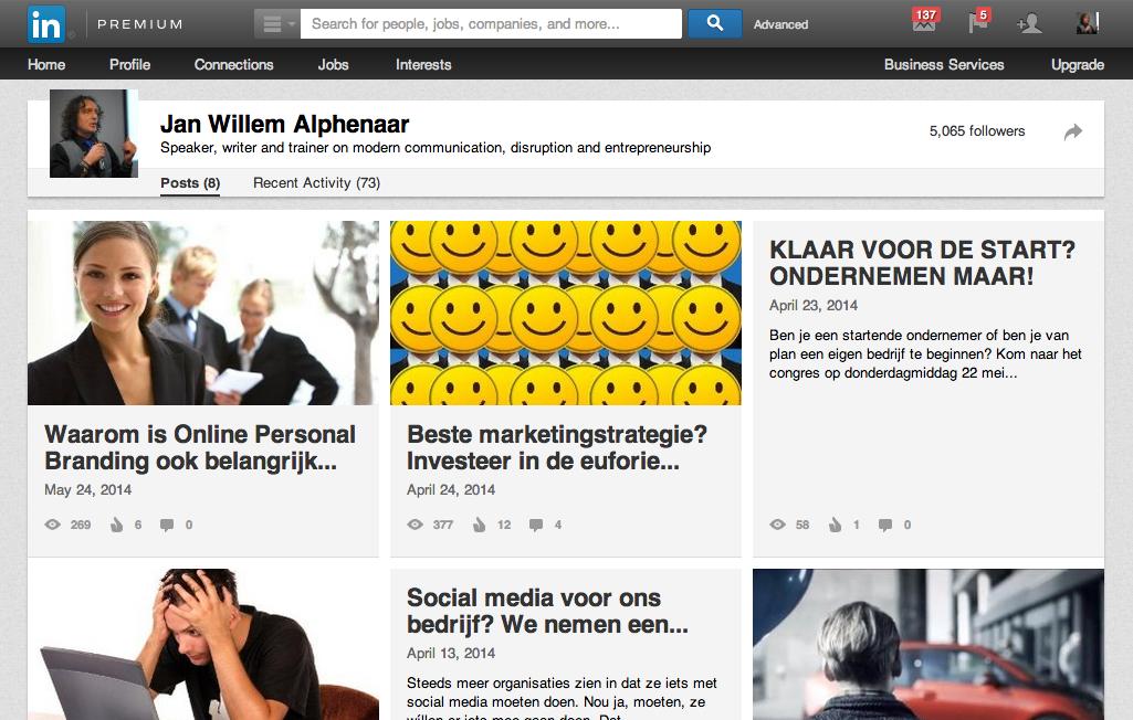 Linkedinpro.nl Statusupdates op linkedin