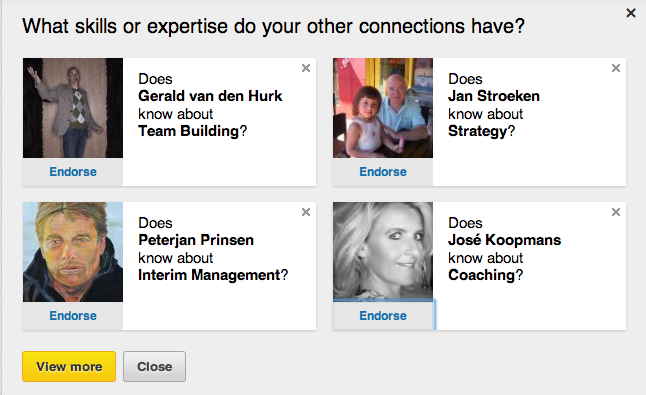 Linkedinpro.nl Endorsements op Linkedin
