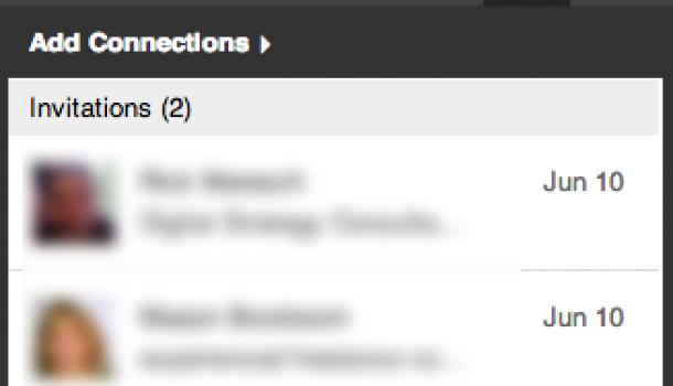 Uitnodiging op LinkedIn niet langer bij berichten