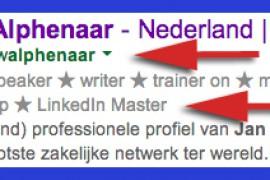 Uitblinken op LinkedIn – deel 1 – Google resultaten