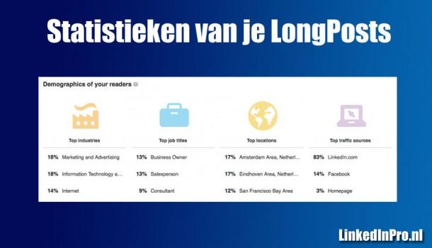 Uitgebreide statistieken voor je LongPosts op LinkedIn