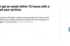 En weer een functie weg bij LinkedIn – exporteren van contacten