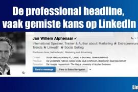 De professional headline, vaak gemiste kans op LinkedIn